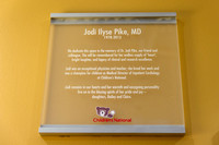 09/12/2014 In Memory of Jodi Ilyse Pike, MD ~ Dedication of the Cardiology Consultation Room